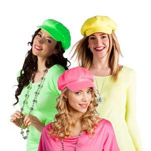 Casquette Fluo à Sequins - Divers coloris-Vert
