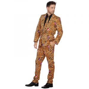Déguisement Homme – Costume Panthère avec Cravate – Taille XL