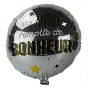 Ballon de 45 cm avec texte - Air / Hélium - Couleur Argent