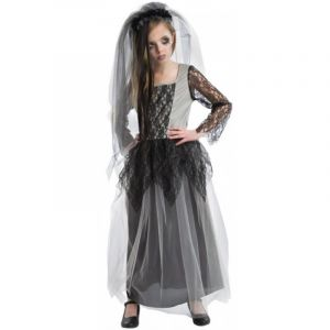 Déguisement Fille - Mariée Zombie - Taille 9-10 ans