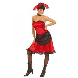 Déguisement Cabaret Danseuse de Saloon Rouge - M
