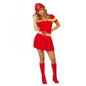 Déguisement de Pompier Femme - Taille Unique