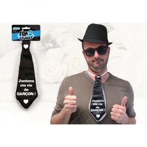 """Cravate """"J'enterre ma vie de garçon"""""""
