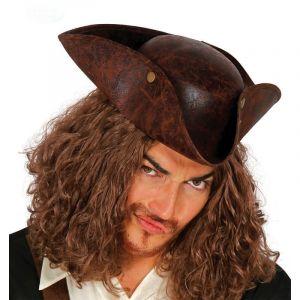 Chapeau de corsaire marron