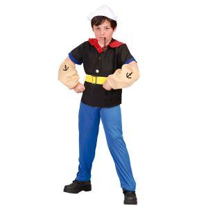 Déguisement Popeye Le Marin Garçon 5/6 ans