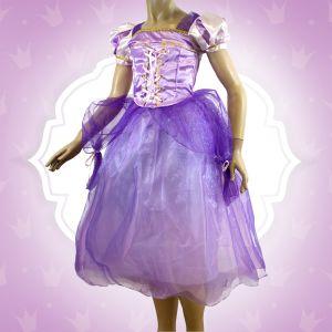 Robe de Princesse Violette Fille - 6/8 ans