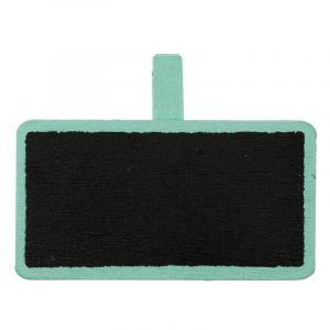 Porte-noms mini ardoises x12 - Vert Menthe