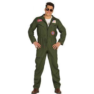 Pilote Armée Américaine Homme - Taille Unique