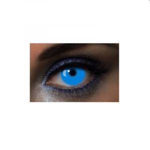 """Lentilles Fantaisies - Bleu - """"UV Blue"""" - 1 Jour (Sans correction)"""