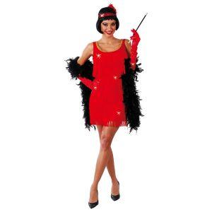 Déguisement Charleston Robe et Bandeau Rouge Femme