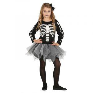 Déguisement de Squelette avec Tutu Enfant - Taille 7-9 Ans