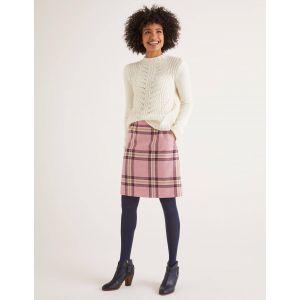 Mini-jupe en tweed britannique MPK Femme Boden, Camel