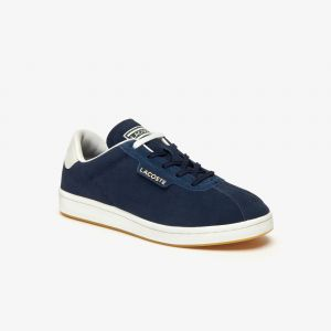 Lacoste Sneakers Masters femme en suède et cuir Taille 42 Navy/offwhite
