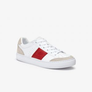 Lacoste Sneakers Courtline femme en synthétique Taille 40 White / Red