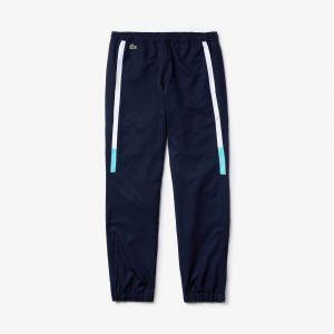 Pantalon de survêtement Lacoste SPORT léger color-block Taille 6 - XL Bleu Marine / Blanc / Turquoise / Bleu Marine