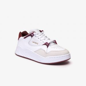Lacoste Sneakers Court Slam femme en cuir Taille 41 White/dark Red