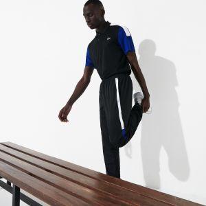 Pantalon de survêtement Lacoste SPORT léger color-block Taille 6 - XL Noir / Blanc / Bleu / Noir