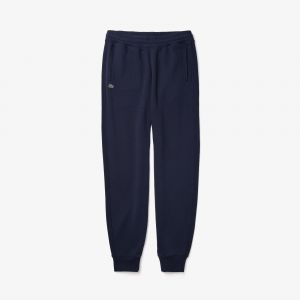 Pantalon de jogging unisexe Lacoste LIVE en molleton de coton Taille 8 - 3XL Bleu Marine