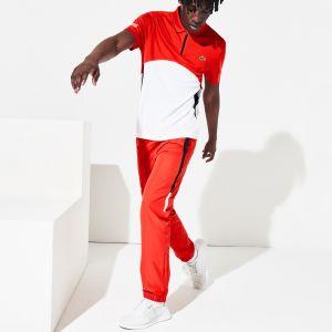 Pantalon de survêtement Lacoste SPORT léger color-block Taille 5 - L Rouge / Noir / Blanc / Noir