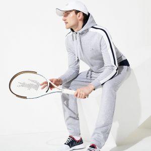6abccb3053 Sweatshirt zippé à capuche Lacoste SPORT Édition Roland Garros Taille 9 -  4XL Gris Chiné /
