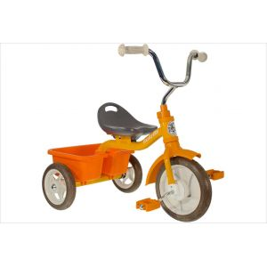 Tricycle métal orange avec benne Italtrike