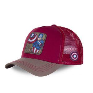 Casquette trucker capslab marvel captain america rouge - Taille TU