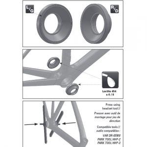 Adaptateur boitier de pédalier cadre Look 989/987 pour cuvettes Press Fit PF30