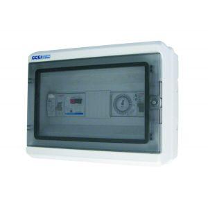 Coffret électrique piscine Panorama sans disjoncteur pour filtration et projecteur - CCEI