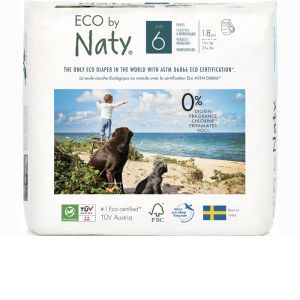 NATY Culottes d'Apprentissage Jetables ECO - Taille 6 Junior+ - +16 kg P
