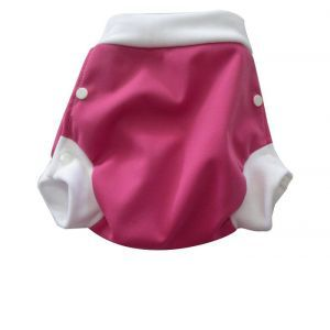 LULU NATURE Culotte de Protection Lulu Boxer Framboise - A pressions Lar