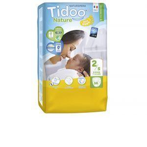 Couches Tidoo Nature - Couches Écologiques - Pack Économique T2 / 3-6 kg