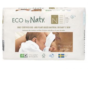 NATY Couches Écologiques Eco by Naty T0 / 1-4.5 kg / 25 couches