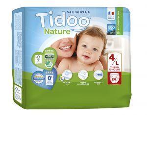 TIDOO Couches Écologiques Nature T4 / 7-18 kg / 24 couches