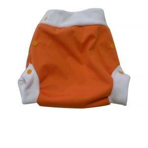 LULU NATURE Culotte de Protection Lulu Boxer Orange - A pressions Small