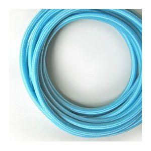 Fil électrique tissé de couleur Bleu vintage look retro en tissu