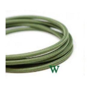 Fil électrique tissé vert vintage look retro en tissu