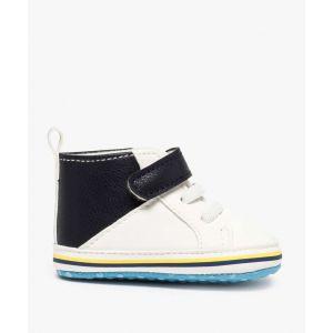 Chaussons de naissance garçon style baskets Bébé garçon chaussures - Couleur Bébé garçon chaussures - Taille Blanc