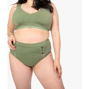 Bas de maillot de bain femme avec boucle décorative Femme - Couleur Femme - Taille Kaki