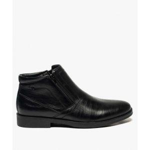 Boots homme fermeture à double zip sur le dessus Homme - Couleur Homme - Taille Noir