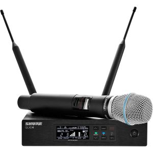 Shure QLXD24E/B87C-K51 (606-670 MHz) système micro main sans fil