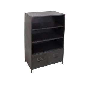 bibliotheque metal noir comparer 461 offres. Black Bedroom Furniture Sets. Home Design Ideas