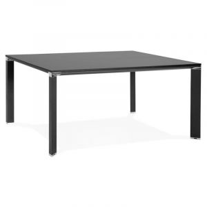"Table de Bureau Carrée Design ""Loina"" 160cm Noir - Paris Prix"