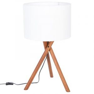 "Lampe à Poser ""Woody"" 66cm Naturel - Paris Prix"