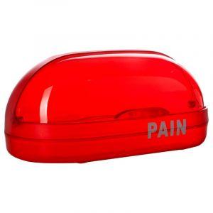 Boîte à Pain en Plastique 36cm Rouge - Paris Prix