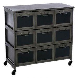 commode metal noir comparer 198 offres. Black Bedroom Furniture Sets. Home Design Ideas