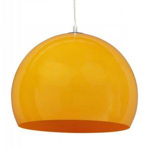 """Lampe Suspension Boule """"Bibury"""" Jaune - Paris Prix"""