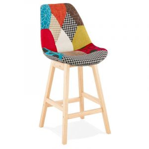 "Tabouret de Bar Patchwork ""Aury"" 104cm Multicolore - Paris Prix"