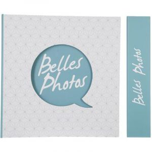 "Album 500 Photos ""Belles Photos"" 33x33cm Bleu - Paris Prix"