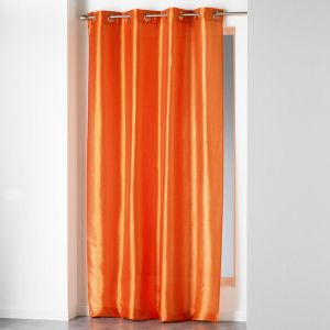 "Rideau """"Shana"""" 140x240cm Orange Brique - Paris Prix"""