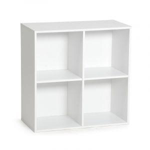 meuble de rangement 4 cases malt 61cm blanc